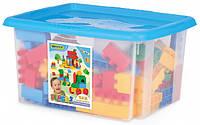 Детский конструктор Wader на 132 элемента в коробке (для мальчиков)