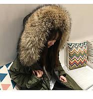 16 зима новая Корея Тондэмун с капюшоном действительно меховой воротник и длинные участки свободные выше колена пуховик женский большой ярдов толстый, фото 1