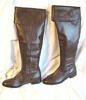 Сапоги женские ботфорты кожаные демисезонные высокие коричневые Next (размер 38)
