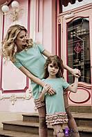 Комплект платьев для мамы и дочки мод.1602.52-53