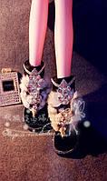 Демон Фокс семьи высокая-конец магическое шоу, оригинальный дизайн потрясающий выпуск зимние кожаные сапоги ручной работы горный хрусталь Лиса голова