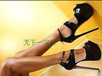 Обувь 2016 правителей силла кожаные женские ультра высокий каблук сандалии обувь этап подиума обувь