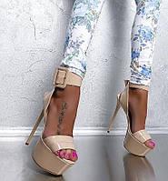 Силла правителей женская обувь сандалии ультра высокой пятки 16 см ню цвета лакированной кожи подиум ночной клуб сценические туфли, фото 1
