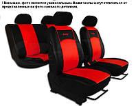 Чехлы модельные сидения ВАЗ 2110  Pok-Ter Польша черно-красные