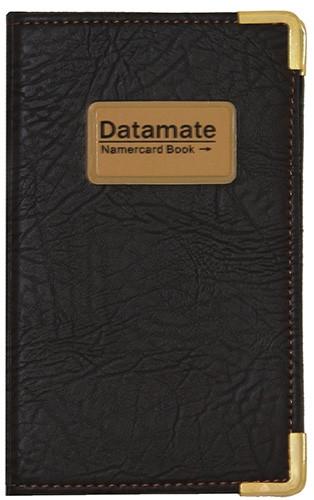 """Визитница кож/зам на кнопке """"Datamate"""" на 240 карт"""