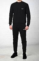 Мужской весенний спортивный костюм найк (Nike), черный