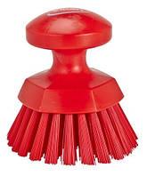 Щітка кругла, жорстка, червоний, 110 мм, 38854 VIKAN