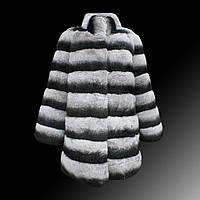 Высокого класса настроены Хайнинг новый шиншилла шиншиллы мех шиншилла полный кожи Сето ленивый кролика Рекс мех длинное пальто