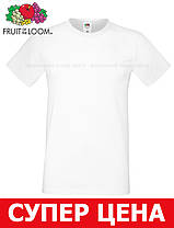 Мужская Футболка Мягкая Fruit of the loom Белый 61-412-30 M, фото 3