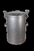 Цилиндрическая домашняя коптильня с герметичным зажимом.