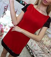 Женское короткое  платье  с пайетками