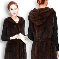 Продажа меха новые норковые вязаные пальто меховой жилет с капюшоном жилет жилет жилет