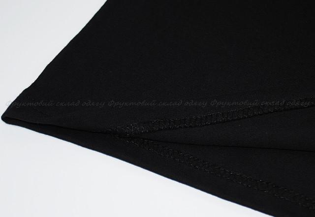 Чёрная мужская мягкая футболка