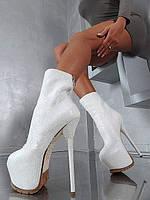 Силла правителей 16 см белые, туфли черные змеиная кожа высокий каблук сапоги женские сапоги женские сапоги пятно, фото 1