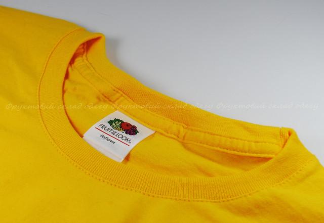 Солнечно-жёлтая мужская мягкая футболка