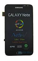 Дисплей с сенсорным экраном Samsung Note N7000 черный с рамкой