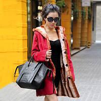 МУ Юн Сюань 2017 зима новый Европейский и американский красный вентилятор и длинные участки мех меха пальто куртка большой