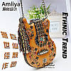 Натуральна Amilya жіноча сумка ручна робота форма гітари сумка 3 кольори
