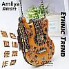 Натуральная Amilya женская сумка ручная работа форма гитары сумка 3 цвета