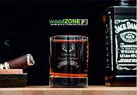 Именной стакан для виски «Охотник»