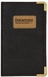 """Визитница кож/зам на кнопке """"Datamate"""" на 160 карт"""