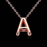 """Позолоченное колье в виде буквы А """"Miss A"""" позолота"""