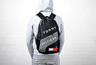 Стильный спортивный рюкзак, черный с серым, реплика