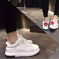 Европы 2017 новая весна Женская обувь красные губы с толстым дном Сдобы обувь с низким Топ повседневная обувь кроссовки