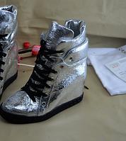 Обувь 2016 новое поступление aliexpress горячая продажа женщин 8см в увеличен женская обувь Европа стенд кожаный покупки высокого верха пинетки