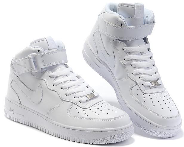 11b10c3b7ee3c2 Кроссовки высокие Nike Air Force белые купить в Украине оптом и в ...