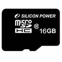 Карта памяти Silicon Power 16Gb microSDHC class 10 (SP016GBSTH010V10)