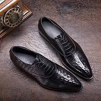 Новые специальные продукты Бесплатная доставка Великобритании совет платье обувь кружева кожаные ботинки мужские коровьей крокодил зерна бизнес