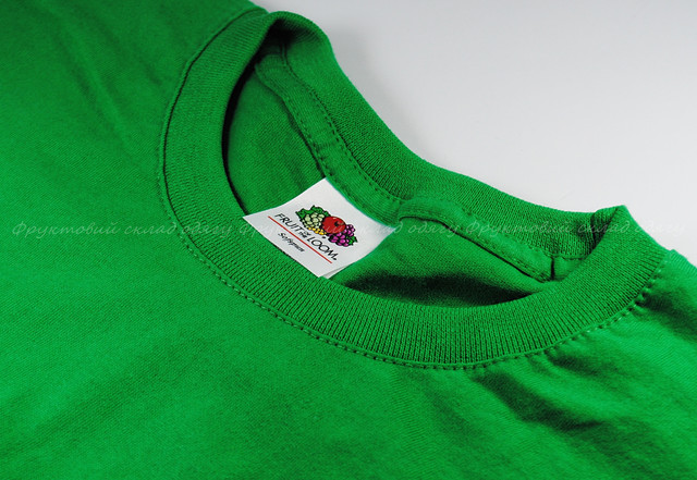 Ярко-зелёная мужская мягкая футболка