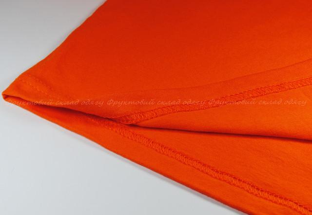 Оранжевая мужская мягкая футболка