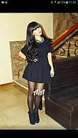 Платье женское короткое ткань дайвинг, ЦВЕТ черный остальные под заказ:) аа №0446