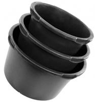 ТАЗЫ СТРОИТЕЛЬНЫЕ 40 литров круглые с мерной шкалой