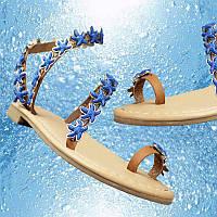Стены цветы оригинальный дизайн на море. Обувь звезды с плоским дном плоским пятки сандалии лето простой клип ног праздником женщин