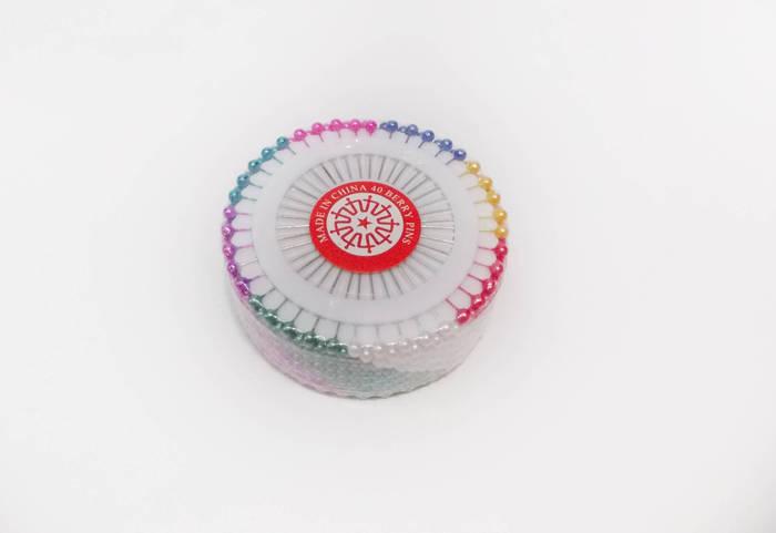 Декоративная шпилька с пластиковой головкой микс 40 шт