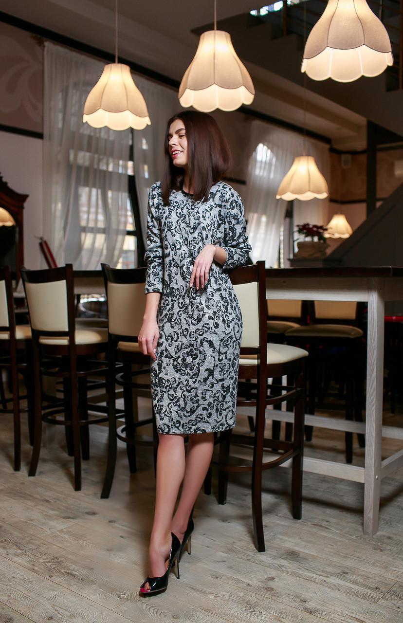 Женское стильное платье из ангоры