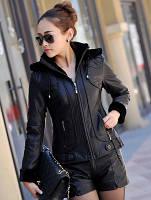 Новая зимняя плюс толстый Женская кожаная одежда из кожи короткий параграф тонкий овец кожи куртка haining меха кожаная куртка