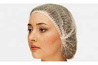 Одноразовая шапочка медицинская типа берет (Шарлотка)100шт Белая