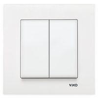 Выключатель 2-х клавишный Viko KARRE.
