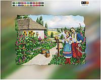 """Схема для вышивки бисером """"Сельский пейзаж"""", на холсте А3"""