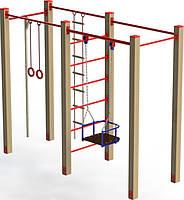 Гимнастический комплекс с лестницей и кольцами