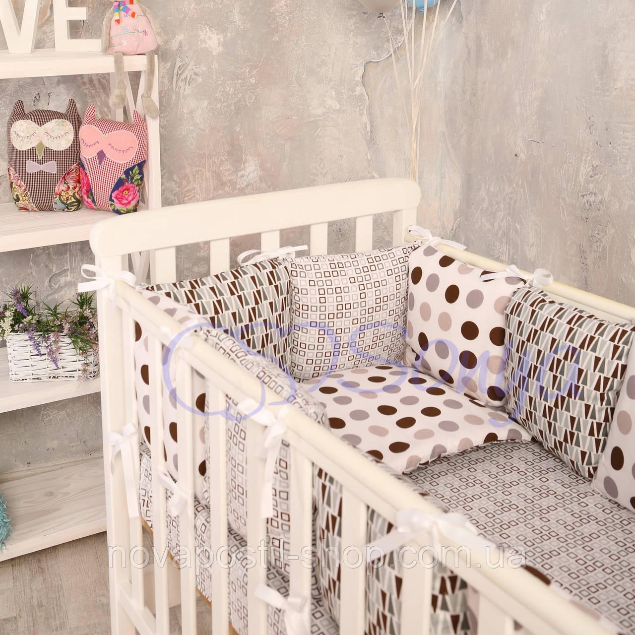 Набор в детскую кроватку Baby Design геометрия (6 предметов)