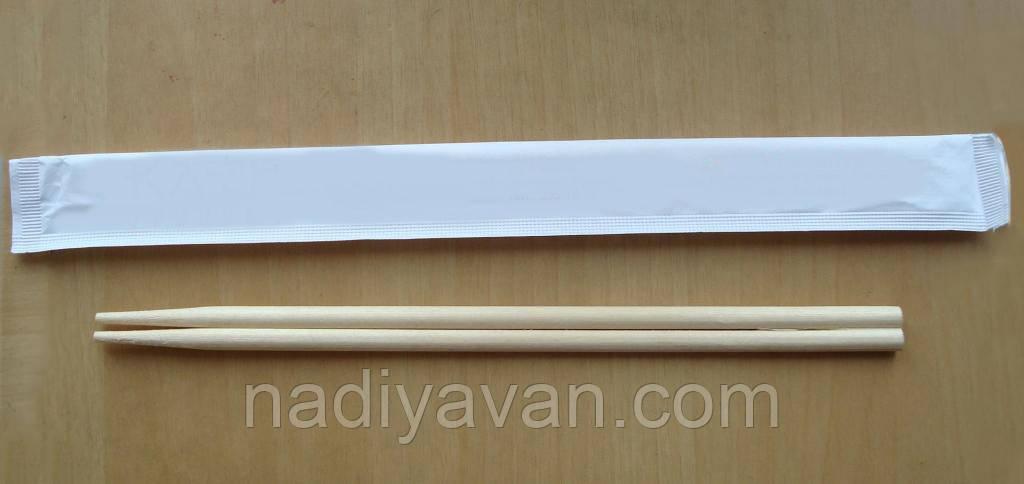 Палочки бамбук 20см раздельные  в бумажной индивидуальной упаковке