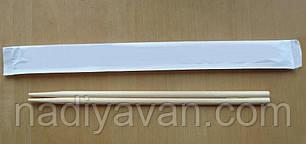 Палочки бамбук 20см раздельные  в бумажной индивидуальной упаковке, фото 2