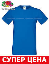 Мужская Футболка Мягкая Fruit of the loom Ярко-Синий 61-412-51 Xl, фото 3