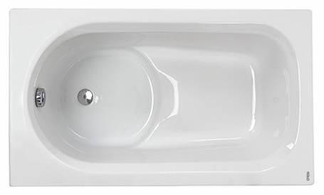 Kolo DIUNA ванна прямоугольная 120*70 см, белая, с ножками, фото 2