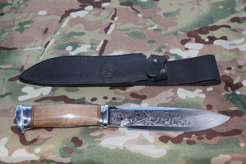 Нож охотничий с фиксированным клинком Фокс-2,сталь ЗИ-107 ,